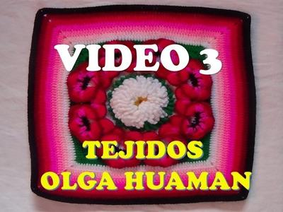 "Colcha a crochet : video 3, muestra ""pensamiento"""