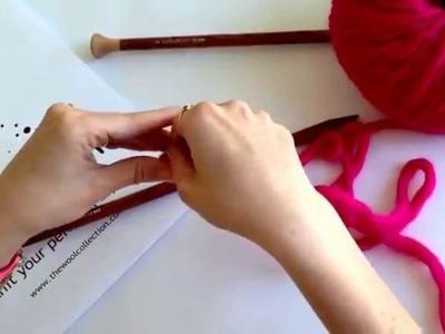 Cómo calcular la cantidad de lana para montar los puntos. http:.thewoolcollection.com