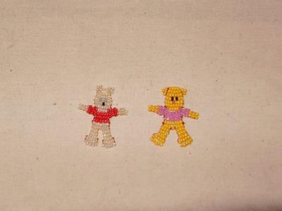 Cómo hacer a Winnie the Pooh con chaquiras, para día del niño.