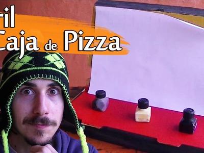 Cómo hacer un Atril con una Caja de Pizza