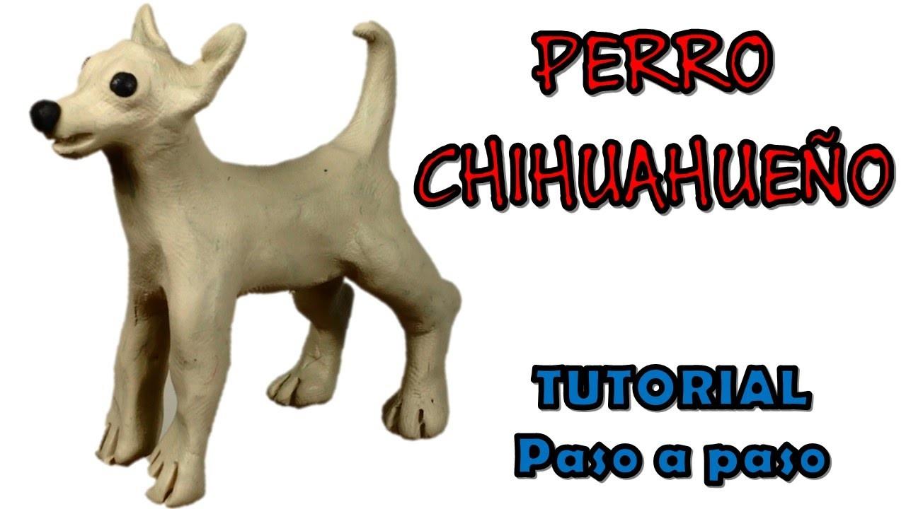 Como hacer un Perro Chihuahueño de Plastilina. How to make a Chihuahua dog with plasticine