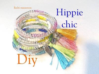 Diy  Pulseras hippie chic de verano