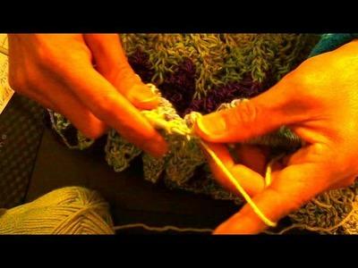 Falda tejida con dos agujas 2