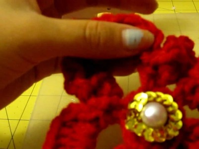 Flor navideno de 6 petalos en (crochet)