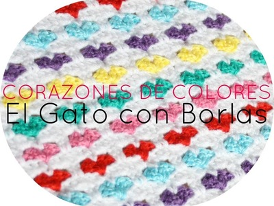 GANCHILLO PUNTO DE CORAZONES