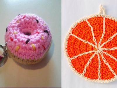 Llaveros y Adornos tejidos en Crochet Ganchillo ( imagenes)