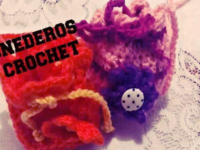 Monedero de Lana Tejido a Crochet
