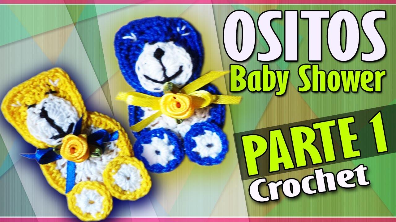 OSITO Parte 1 - Recuerdo Baby Shower - Tejido a Crochet