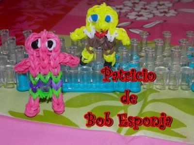 Patricio Bob Esponja con telar. Patrick of sponge bob on rainbow loom