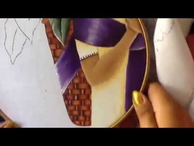 Pintura en tela vendedora de flores # 5 con cony