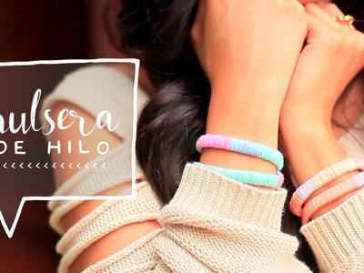♥ Pulseras Envueltas con Hilo | Hazlo Tú