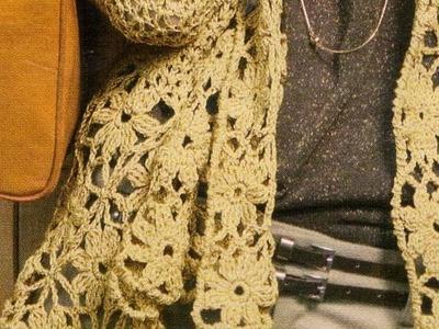 Saco con picos a crochet