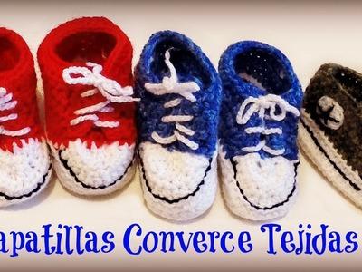 Zapatillas Converse tejidas para bebe - Parte 2