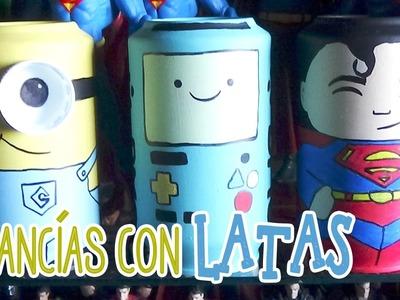 Alcancía de los minions hecha con latas - Candy Bu