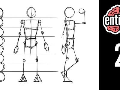 Aprende a dibujar el esqueleto y sus proporciones - Parte 1