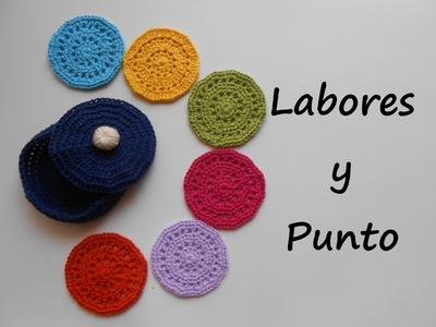 Aprende a tejer estos posavasos con su caja a ganchillo o crochet - Parte 1 de 2