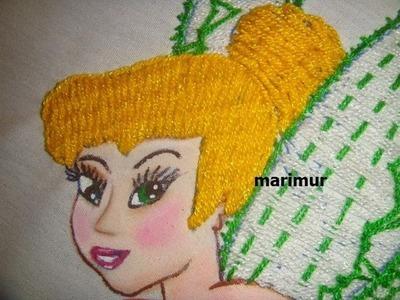 Bordado fantasia  pelo o cabello de campanita   marimur 416