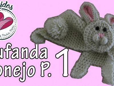 Bufanda de conejo | Parte (1.3) TUTORIAL