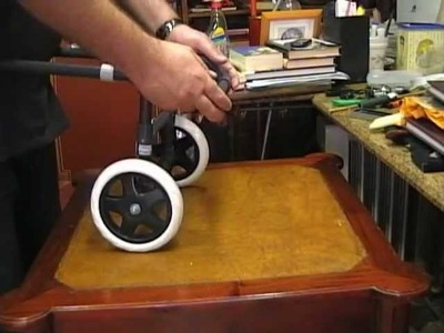 Carro-Silla de ruedas para un perro.
