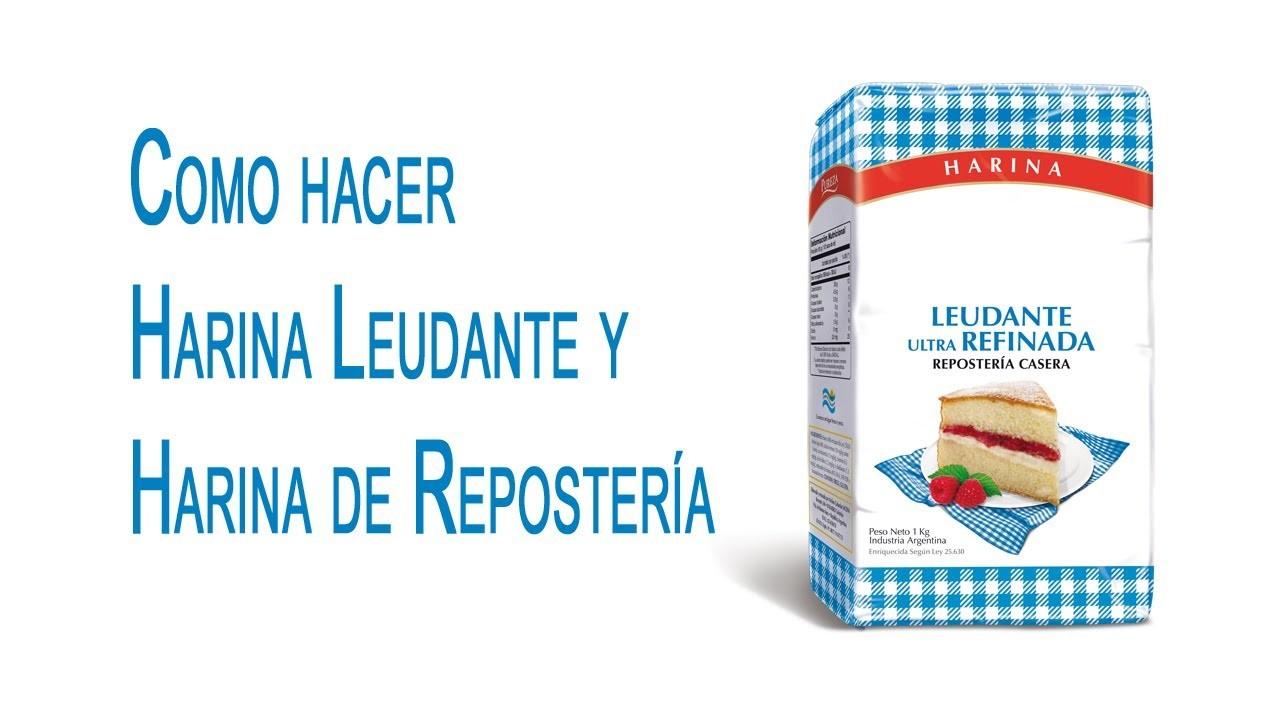 Como hacer Harina Leudante y Harina de Repostería, Self Rising y Cake Flour
