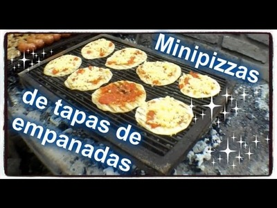 Como preparar mini pizzas de tapa de empanada.
