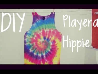 DIY; Camiseta HIPPIE :3