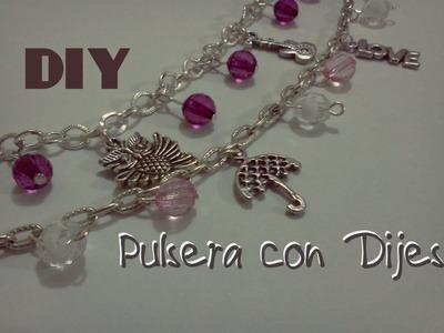 DIY Pulsera  con Dijes