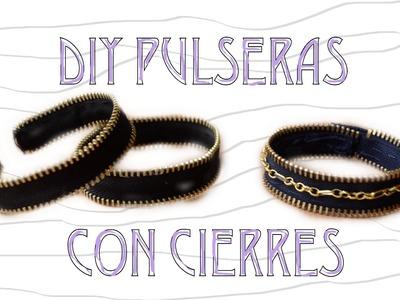 DIY Pulseras con Cierres | DIY Zipper Bracelets