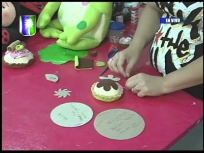 Ebisu arte y creatividad Proyecto Alfiletero Cupcakes