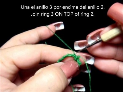 Frivolite-Tatting Lesson 112 - Ankars basico - anillos apilados - stacked rings