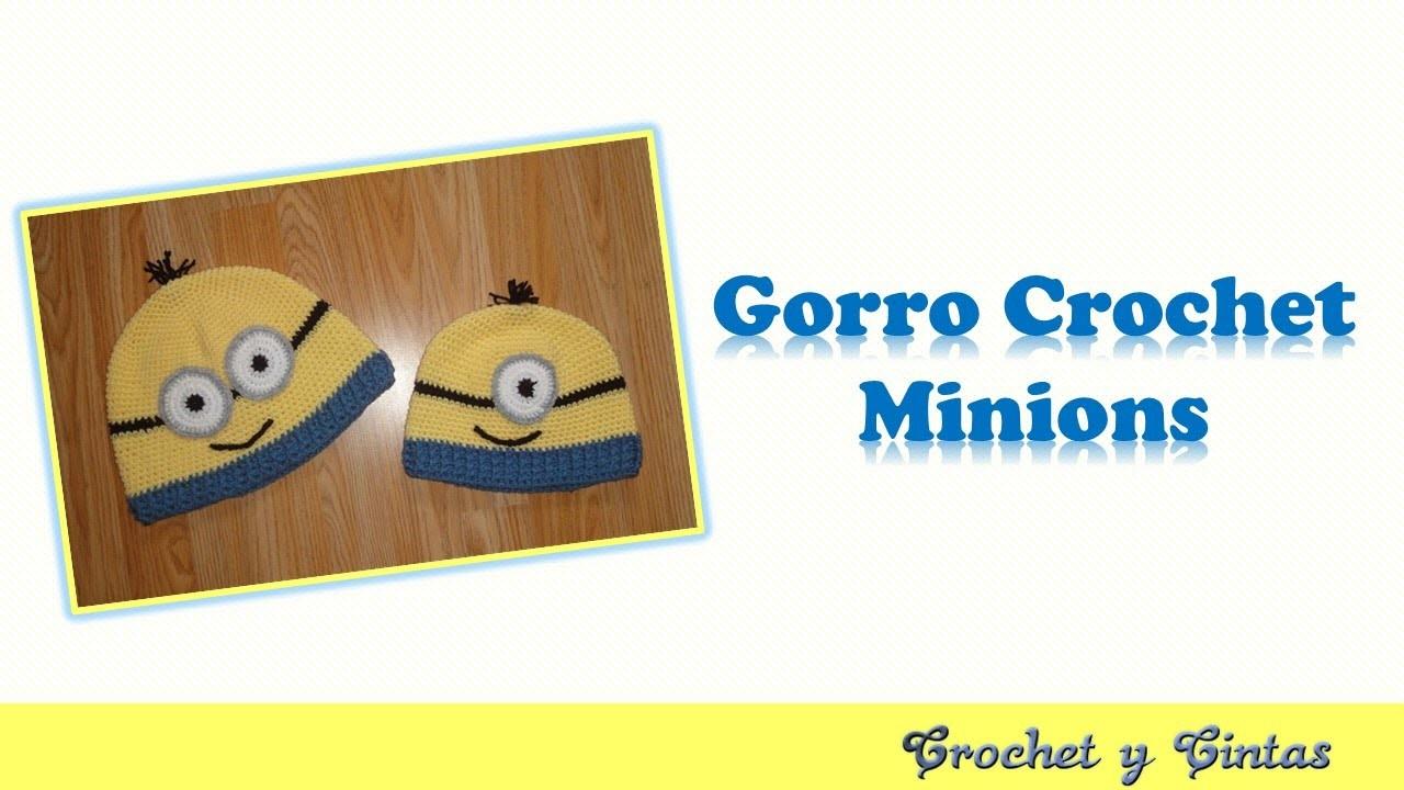 Gorro crochet (ganchillo) inspirado en Minions para niños y adolescentes – Parte 1