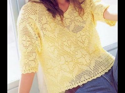 Gráficos para Tejer Blusa a Crochet