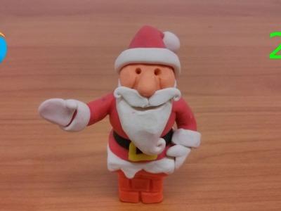 Hacer el cuerpo del Papa Noel con plastilina (2.3)