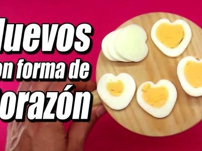 Huevo con forma de corazón, cómo se hace