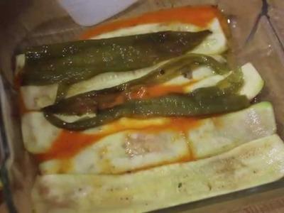 Lasaña de calabacín. Zucchini lasagna