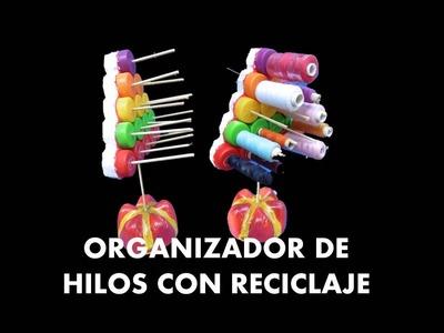 MANUALIDADES -  Como hacer un organizador con tapas de botellas recicladas - RECICLAJE