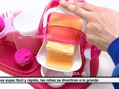 Maquina De Hacer Helados De Verdad Heladeria De Juguete Para Niñas Ensamble y Preparacion
