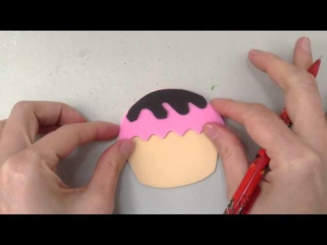 Marcalibro de Cupcake Sonriente; Manualidades para niños