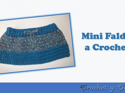 Mini Falda tejida a crochet (ganchillo)