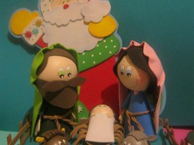 Nacimiento Pesebre Belen navideño en Foamy gomaeva termoformado 3d Artfoamicol La Fabrica