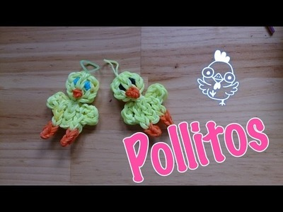 Pollito de gomitas con telar   chick for rainbow loom