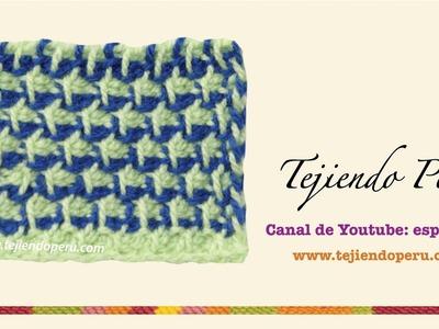 Punto en dos colores en ganchillo tunecino