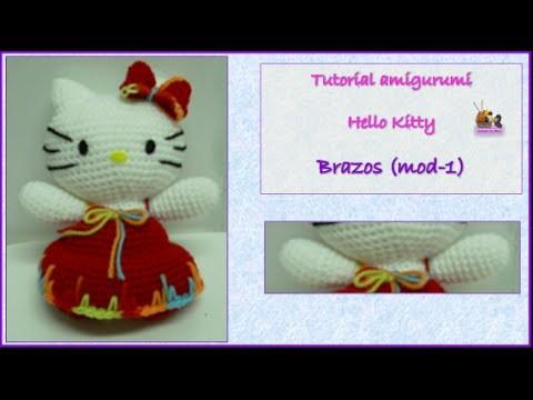 Tutorial amigurumi Hello Kitty - Brazos (mod-1)