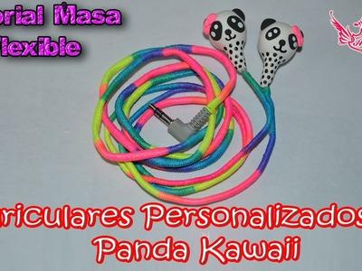 ♥ Tutorial: Auriculares personalizados Panda Kawaii de Masa Flexible ♥