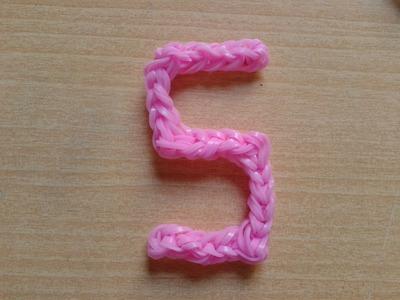 ♥ Tutorial: letra S hecha de gomitas (sin telar) ♥