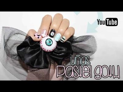 Uñas pastel goth