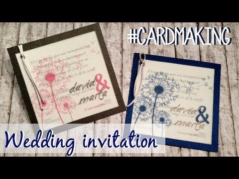 Wedding invitation #5 - Invitación de boda #5