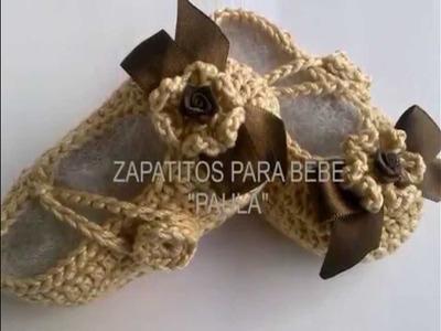 "ZAPATITOS PARA BEBE ""PAULA""  #4"
