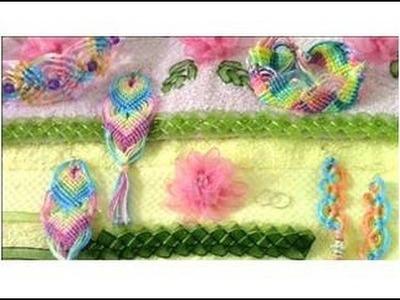 Bordados en cintas de organza pulseras y diademas tips 3