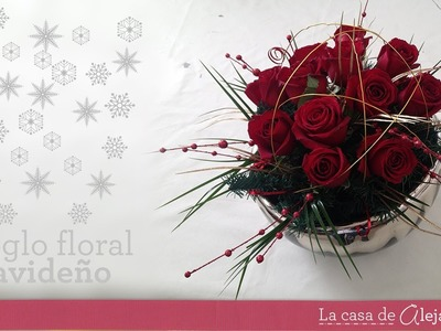 Centro de mesa en rojo para Navidad  -DIY  Floral centerpice for Christmas